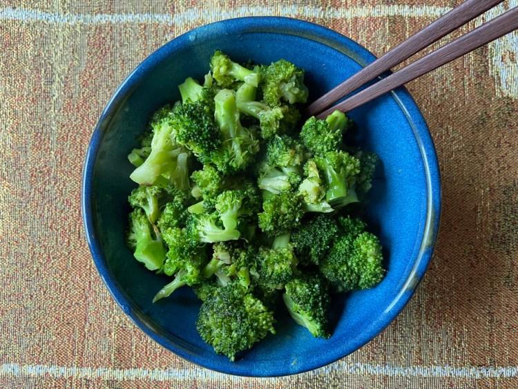 broccoli with mustard glaze