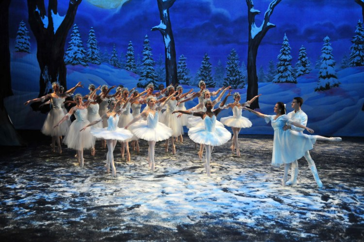 Snow scene from The Nutcracker ballet