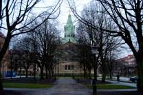 """Sankt Pauli kyrka från """"baksidan""""."""
