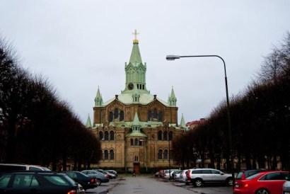 Sankt Pauli kyrka från Drottninggatan