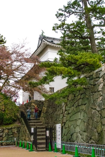 One of the little guardian towers on a corner of Nagoya castle.