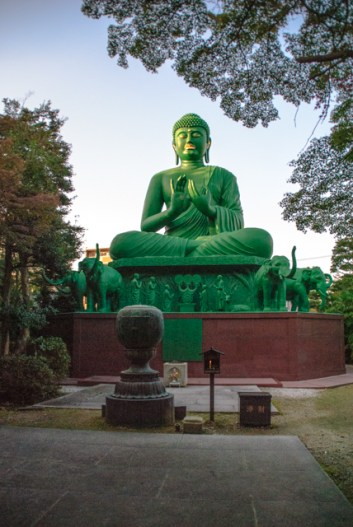 The green Buddha in Nagoya was cast in 1987.
