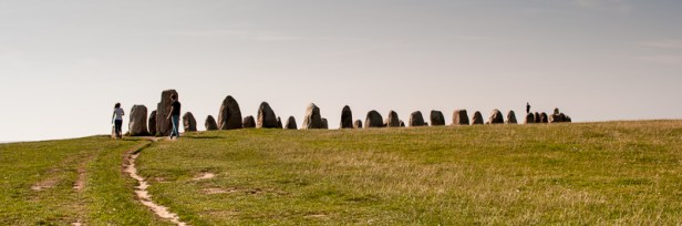 Ale stenar is the biggest megalithic monument in the nordic countries.