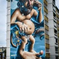 Troll Mural by Smug One in Holma, Malmö