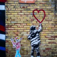Graffiti at Camden Market in London