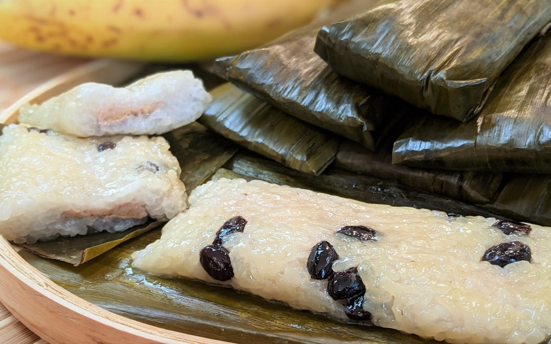 Gâteaux de riz gluant à la banane