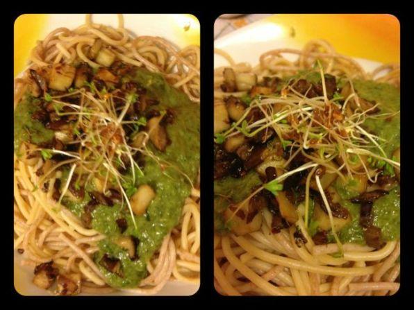 Bärlauchspaghetti mit Kräuterseitling