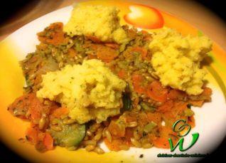 Kamut-Gemüse mit Polenta