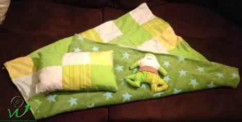 Patchwork Babyset grün/gelb