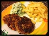 Karotten-Dinkelwaffelburger