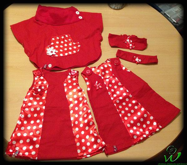 Poncho-Kleidchen-set