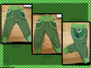 Näähglück-Kinderhose-grün