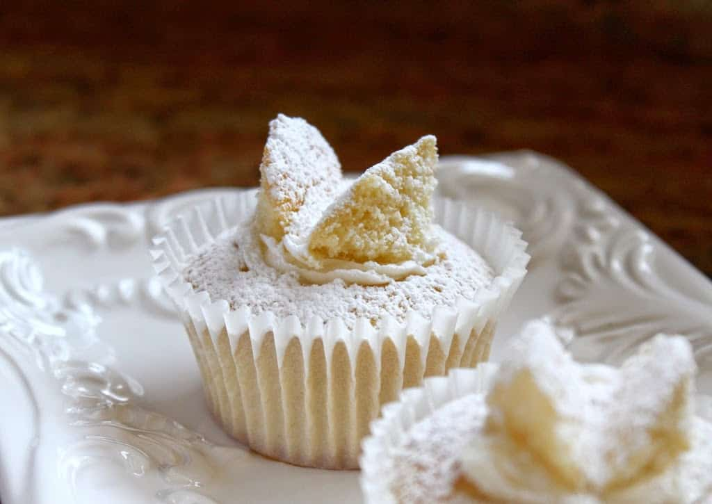 Traditional British Butterfly Cakes Or Fairy Cakes