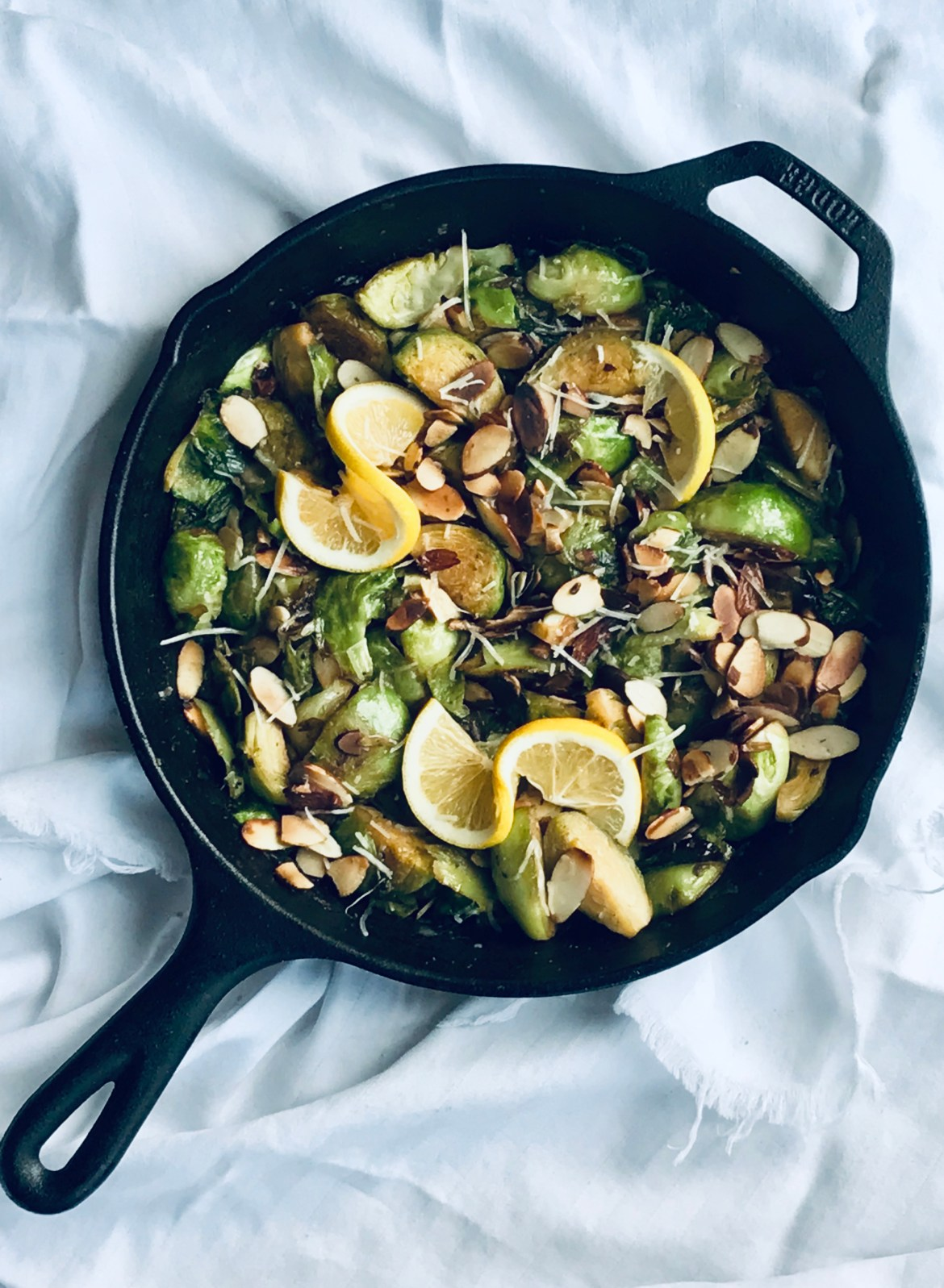 Almond Parmesan Brussels Sprouts