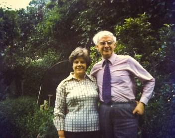 With John in the Consett garden