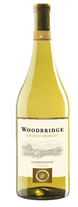 photo of the bottle of a woodbridge chardonnay