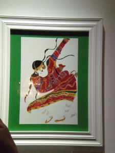 A painting of one of the costumes/dancers of The Rite of Spring