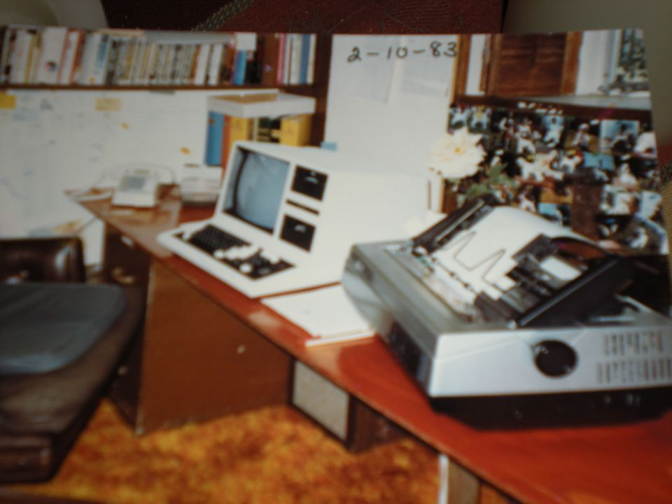 Dad's first computer, a Trash 80 (TRS 80) 1983. He was definitely an early adopter.