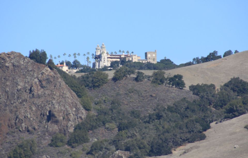 Hearst Castle, as seen from Highway 1. Zebras are off to my right. 2-16-14