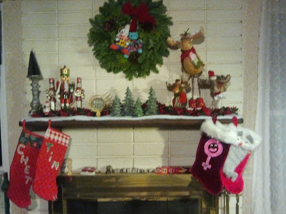 the holiday mantel
