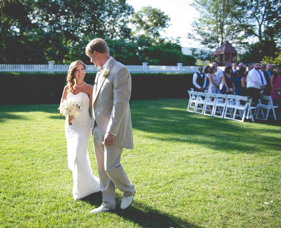 Wedding Ceremony at a Highlands Country Club Wedding in Garrison, NY