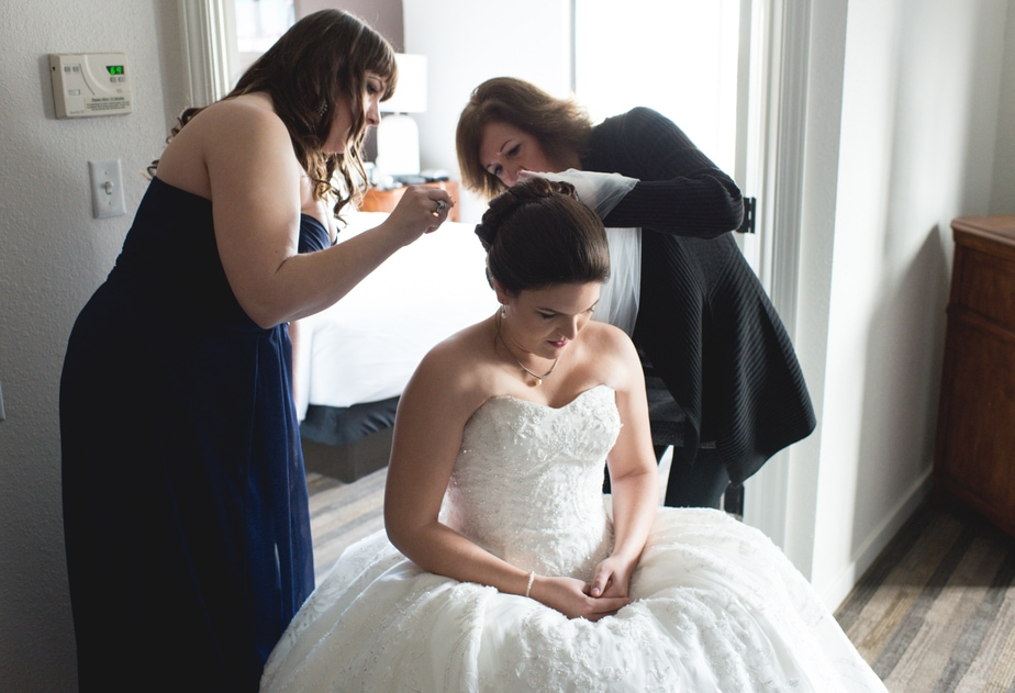 Bride Getting Ready Before a Garrison, NY Wedding