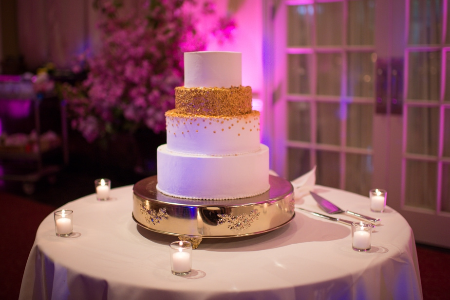 Cake detail at a Hudson Valley wedding photo
