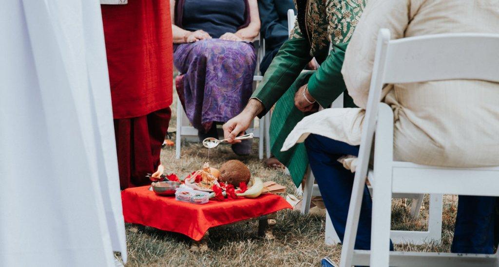 Indian wedding ceremony in Beacon, NY