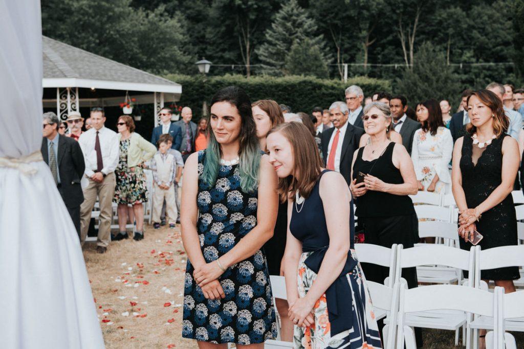 Wedding ceremony at Dutchess Manor in Beacon, NY