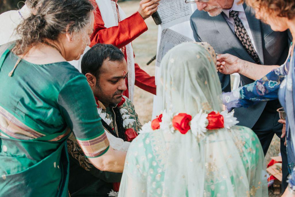 Indian wedding ceremony at Dutchess Manor in Beacon NY