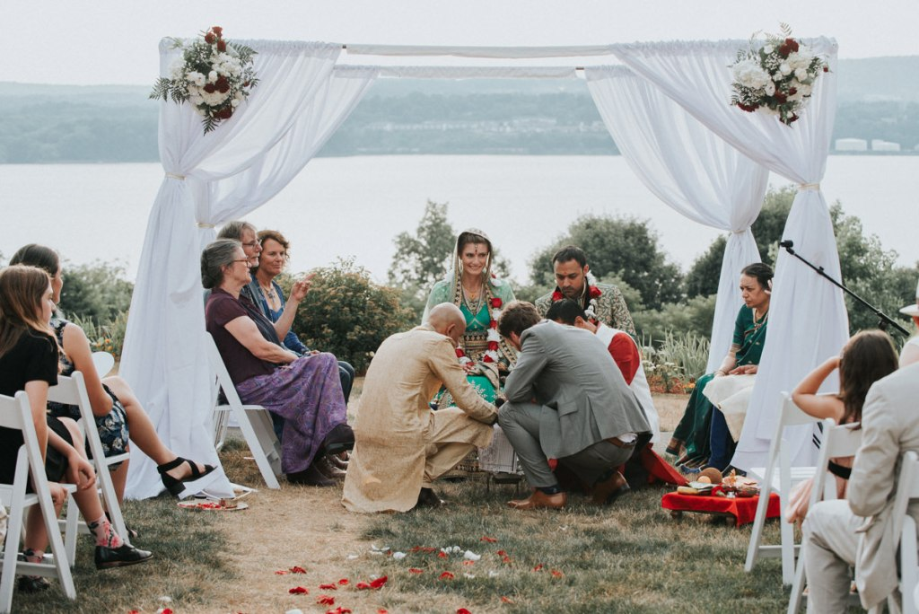 Indian wedding ceremony in the Hudson Valley