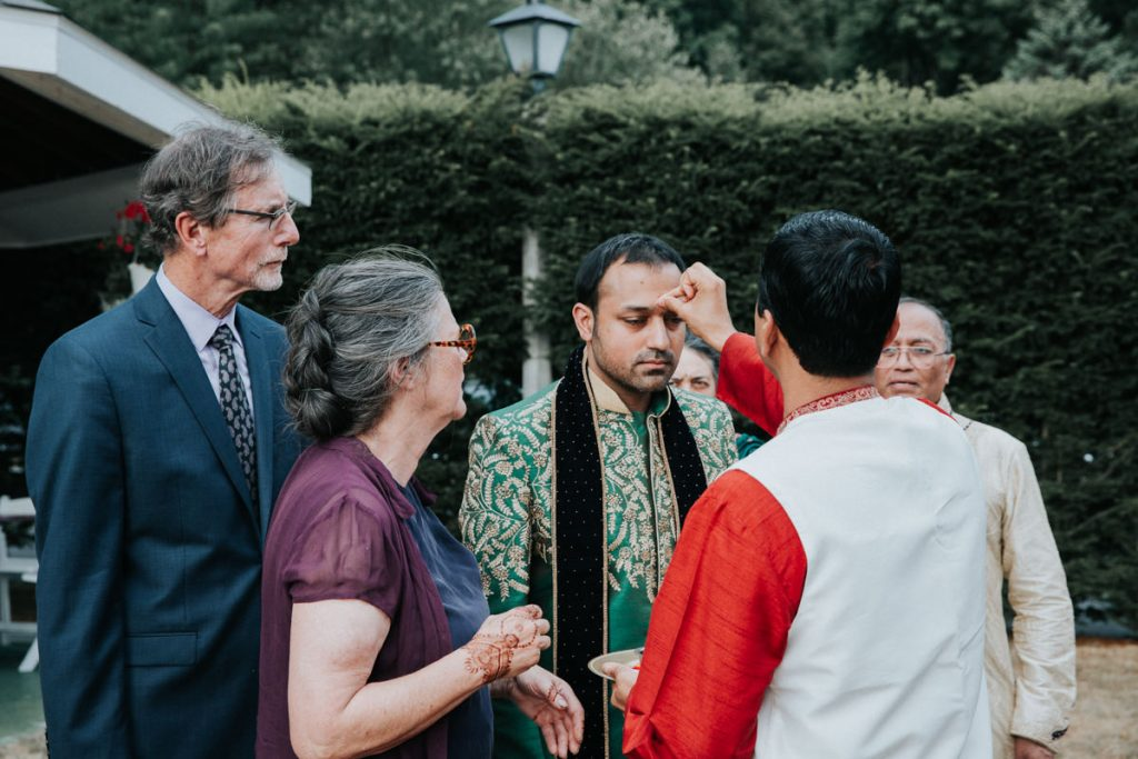Indian wedding ceremony at Dutchess Manor in Beacon, NY