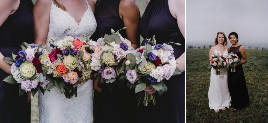 Globe Hill at Ronnybrook Farm foggy wedding day photos