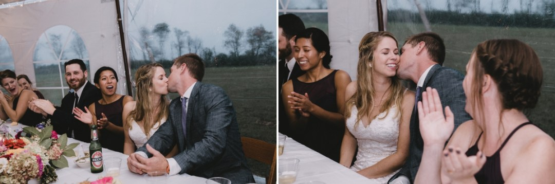 Globe Hill tented wedding reception