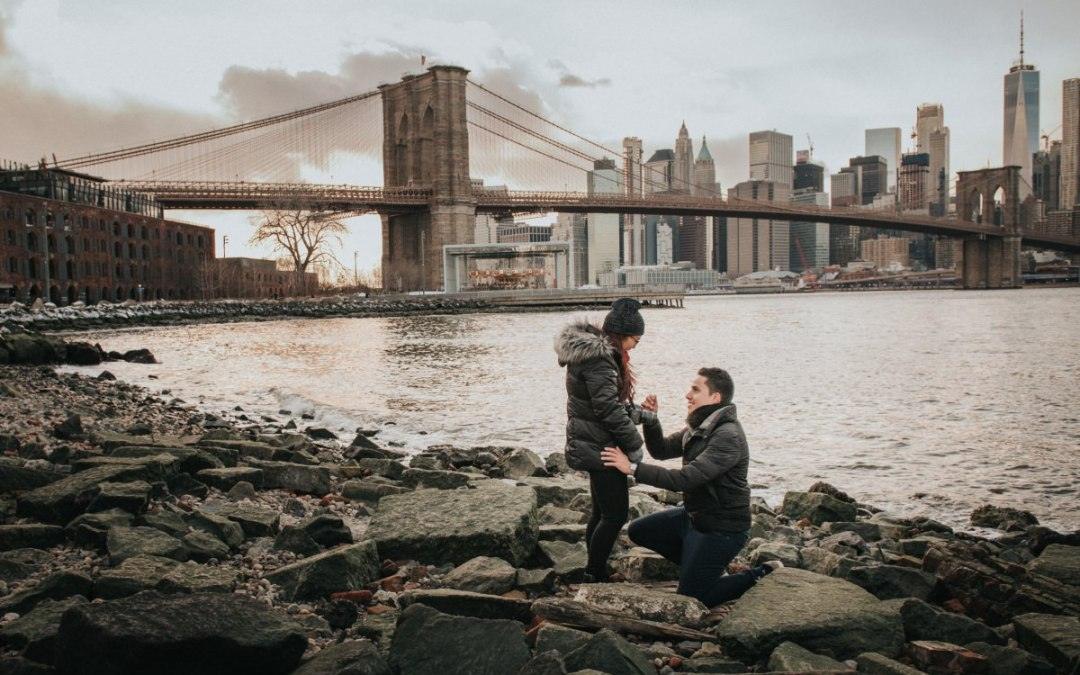 Brooklyn Marriage Proposal and Engagement Photography