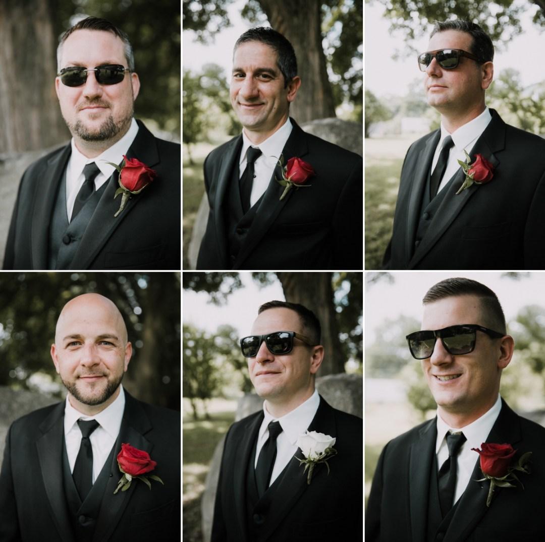 Fishkill wedding photos of groomsmen