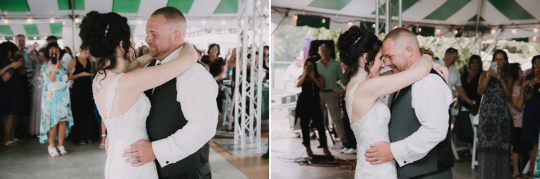 Bride and Groom dance at their Fishkill Golf Course wedding