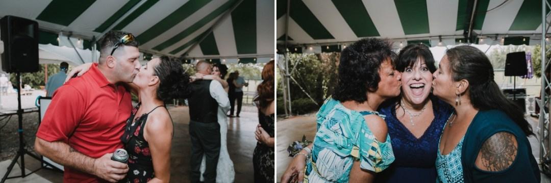 Candid Fishkill wedding reception photos