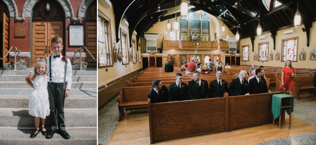 Our Lady of Loretto Church in Cold Spring, NY wedding