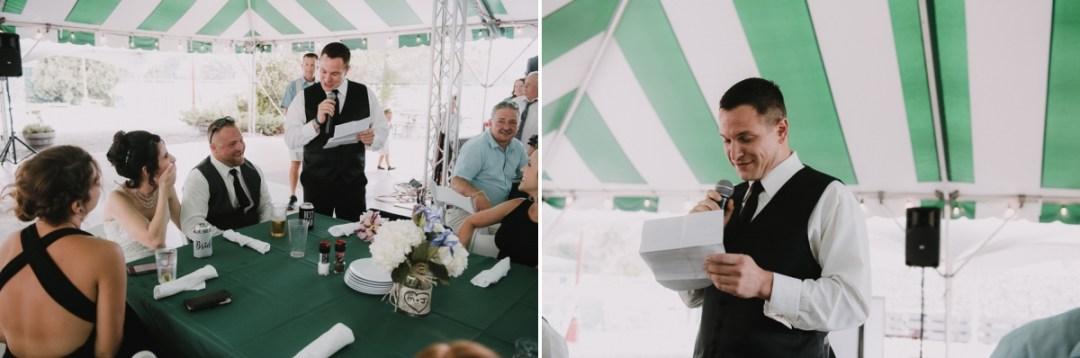 Wedding reception speeches at a Fishkill Golf Course wedding