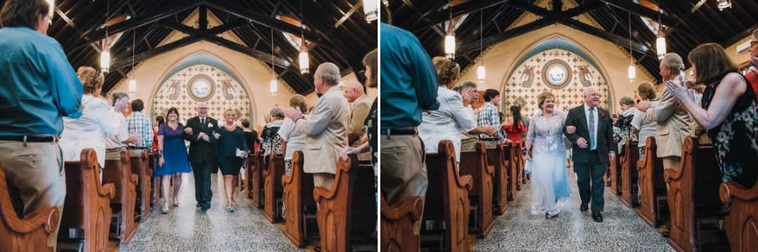 Family of the bride and groom at a Cold Spring church ceremony at Our Lady Of Loretto church
