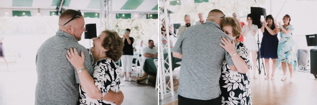 Son and mother dance at a Fishkill Golf Course wedding reception