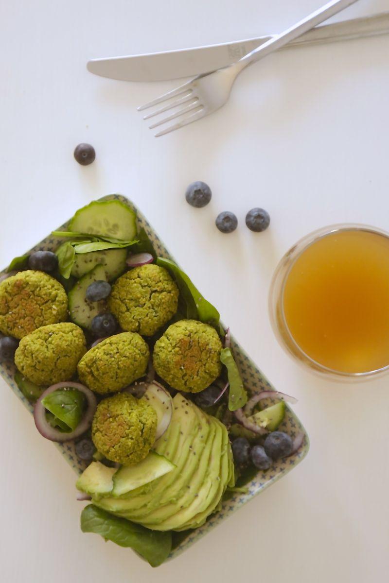 Veganske ovnbagte ærtefalafler - Englerod : Grønskolling