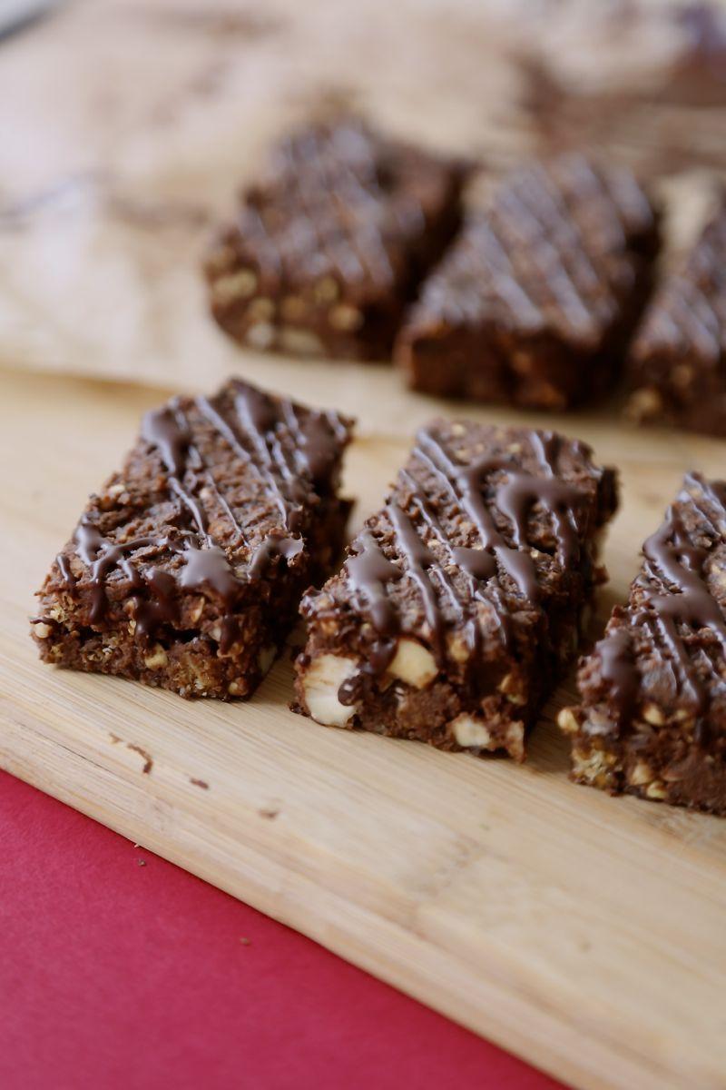 Crunchy bønnebar med chokolade (proteinbar uden proteinpulver)2
