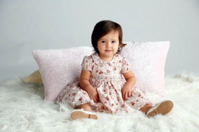 04.This fun floral dress from SM Babies is perfect for My First Party