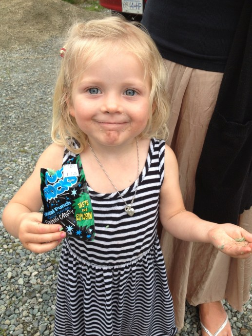 I tried to tell her that pop rocks + coke = exploding head. She wouldn't buy it.