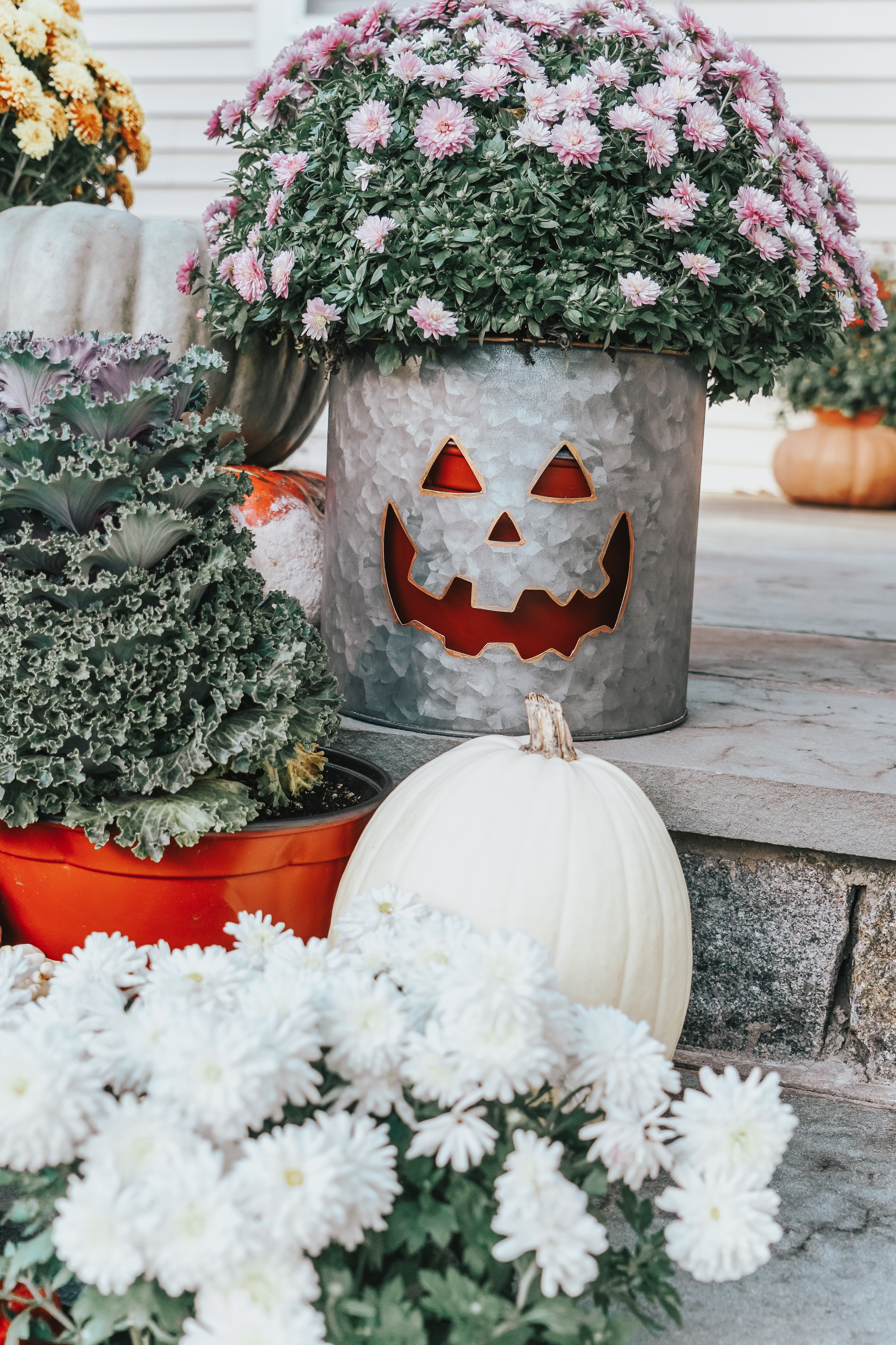 I love decorating for fall, especially the front porch. Here are my favorite Inexpensive Fall Front Porch inspiration ideas that you can do on any budget!