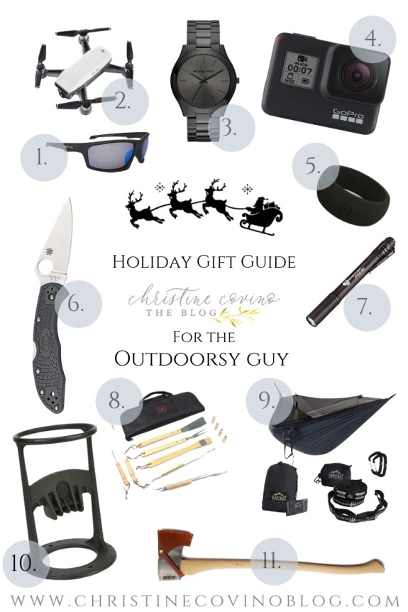 Do you have an outdoorsman in your life you need to find gifts for? Check out this men's holiday gift guide with practical and functional ideas for any guy!