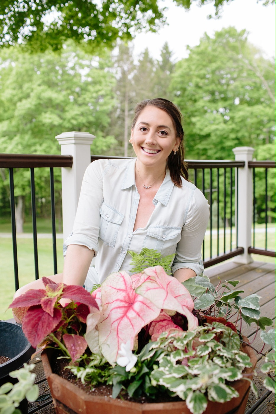 Christine Covino, experienced gardener sharing container gardening tips