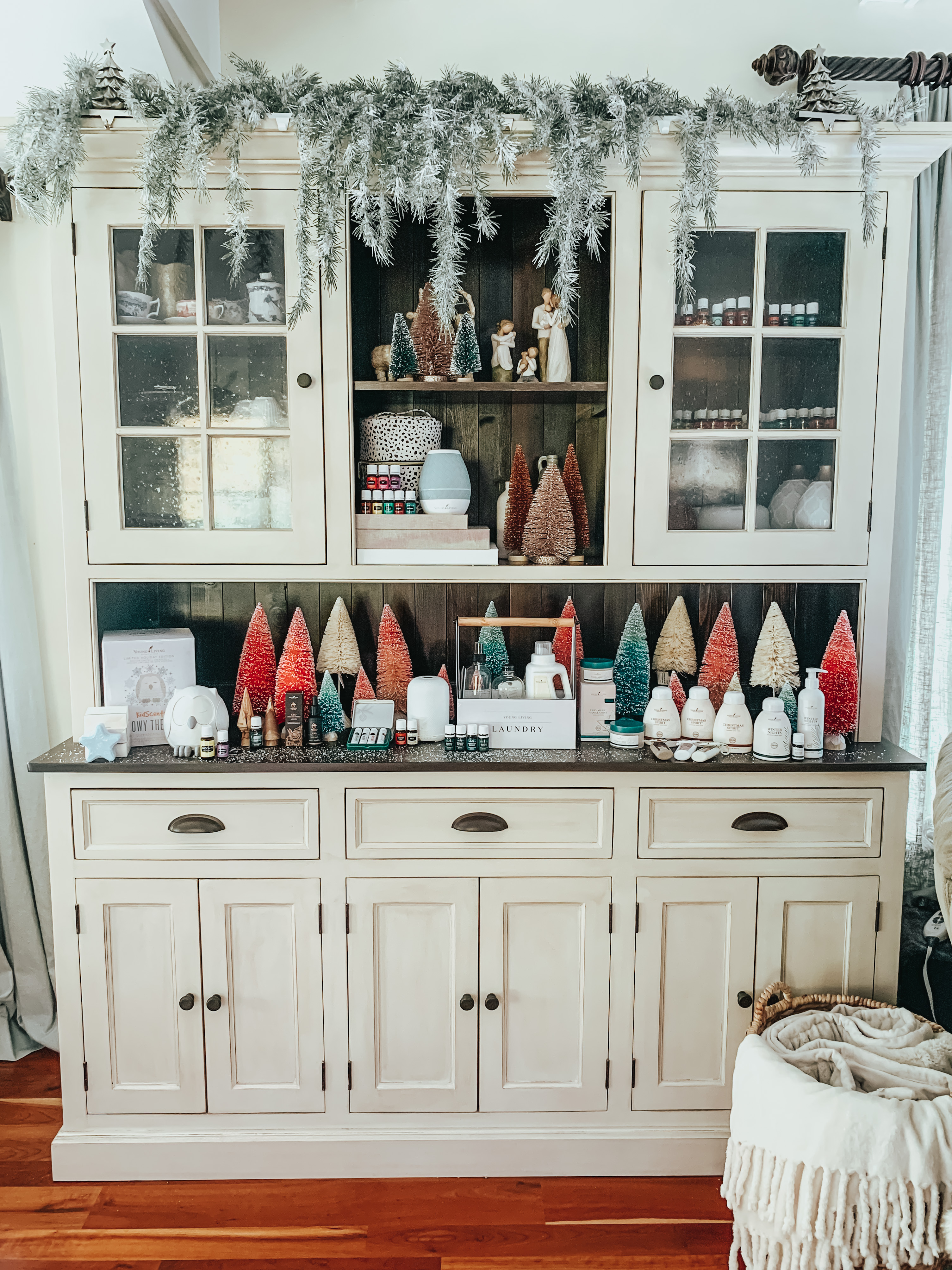 cabinet for Christmas- Holiday Home Decor